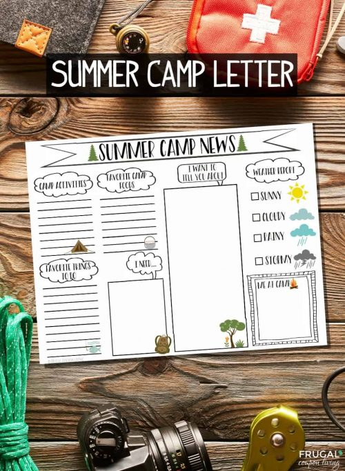 Summer Camp Letter Printable