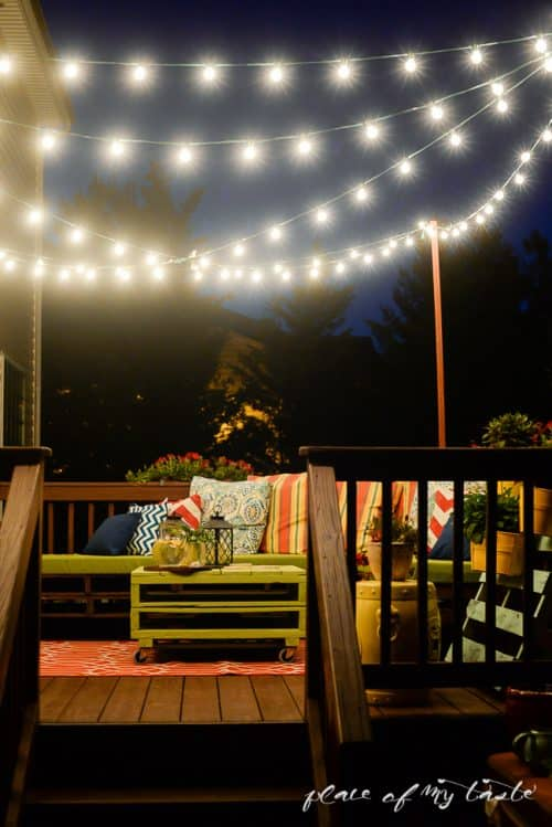 DIY Patio String Lights Tutorial