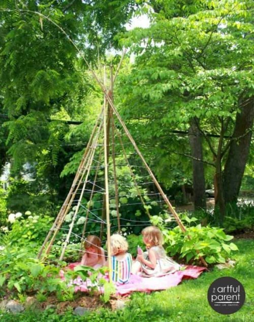 how to make a garden teepee