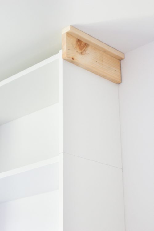 Adding molding to IKEA BILLY bookcase
