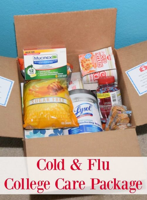 Cold and Flu care package idea for someone sick