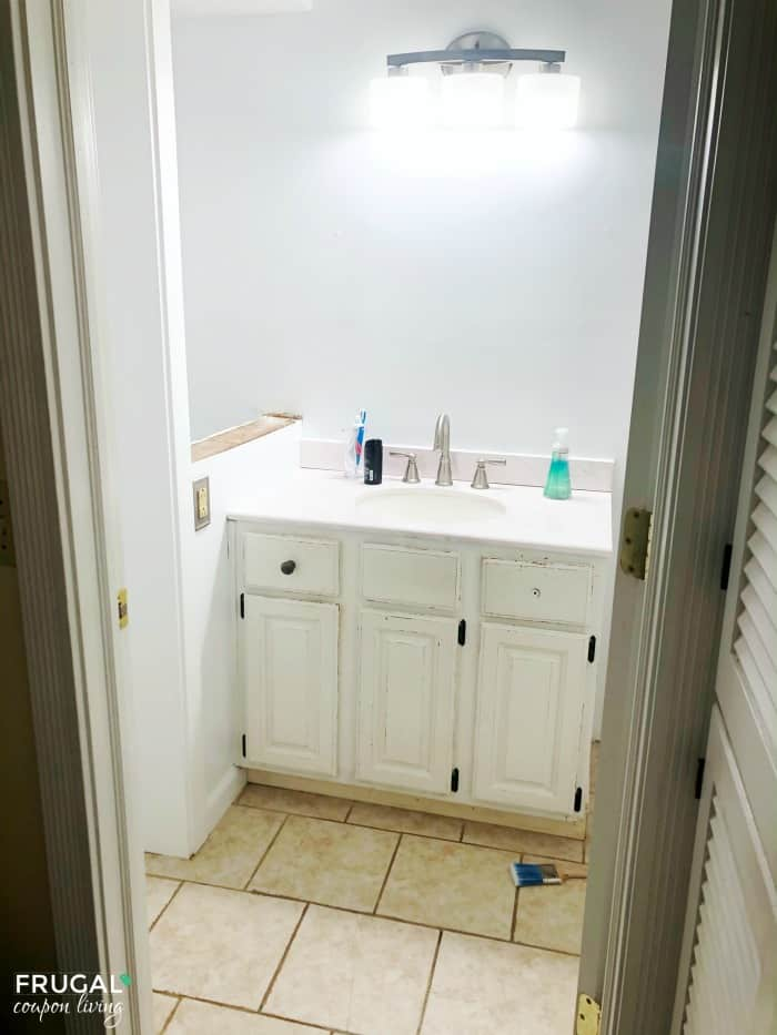 Bathroom Vanity Makeover Before