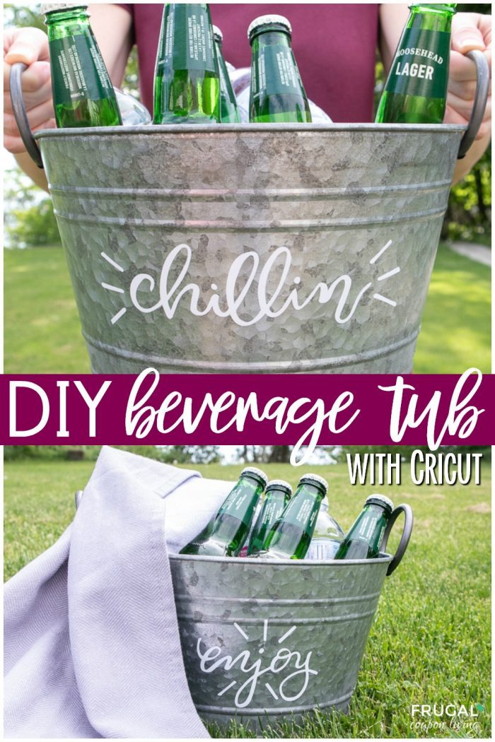 DIY Beverage Tub with Cricut Maker and free SVG files