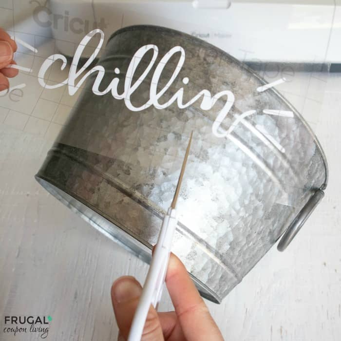 diy galvanized beverage bucket using cricut maker vinyl svg files
