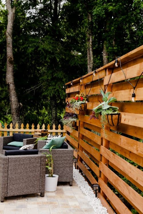 DIY Horizontal Slat Fence