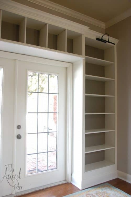 IKEA Billy Bookcase Hack Entryway and Door