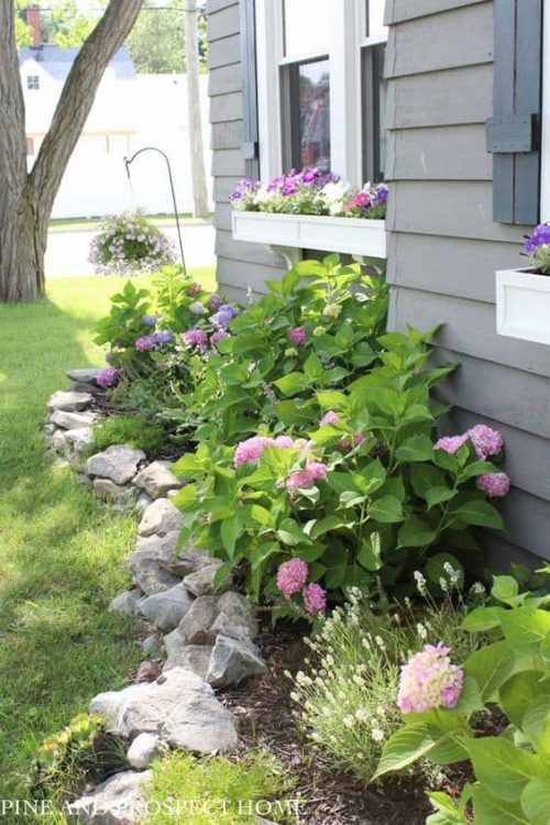 Rock Edge Flower Bed