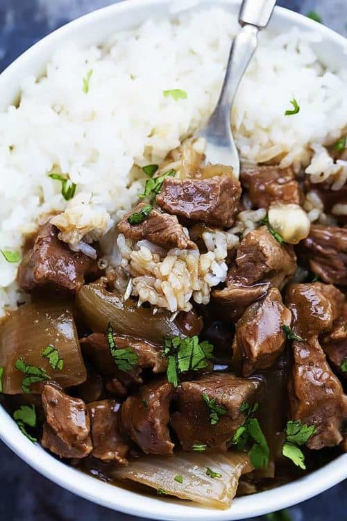 Crockpot Beef with Rice