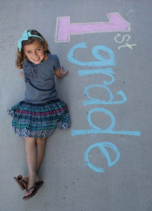first day of school sidewalk chalk art