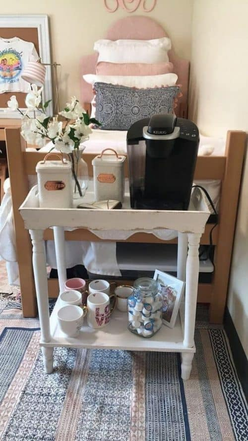 Dorm Room Coffee Station | Dorm Room Decor