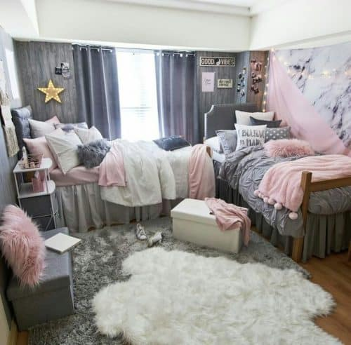 College Dorm Decor Ideas - How to Layer College Rugs
