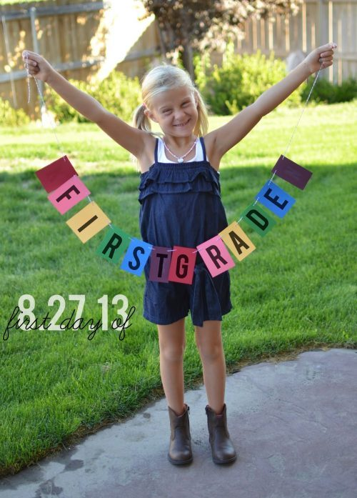 DIY First Day of School Banner