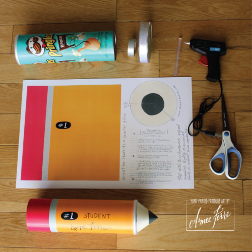 Back to School Time Capsule Pencil Printable and Pringles Can Craft