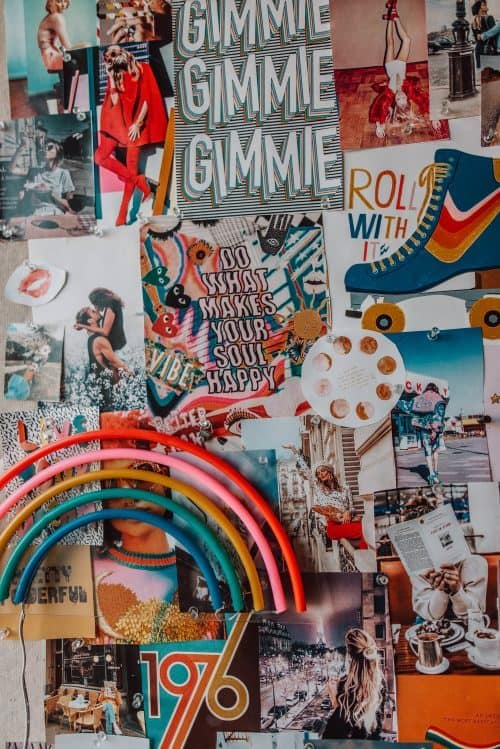 Mood Board Printables for College Dorm Decor Ideas