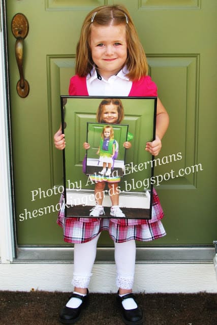 DIY Photo in Photo first day of school idea