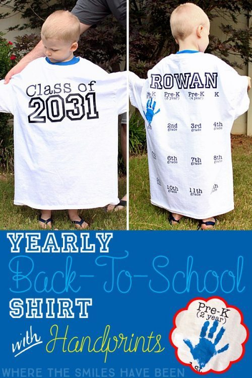Annual First Day of School Handprint Shirt