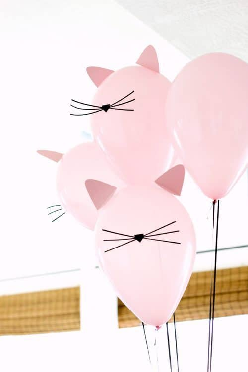 Cat Birthday Party Balloons - Kitty Party Decor & Crafts