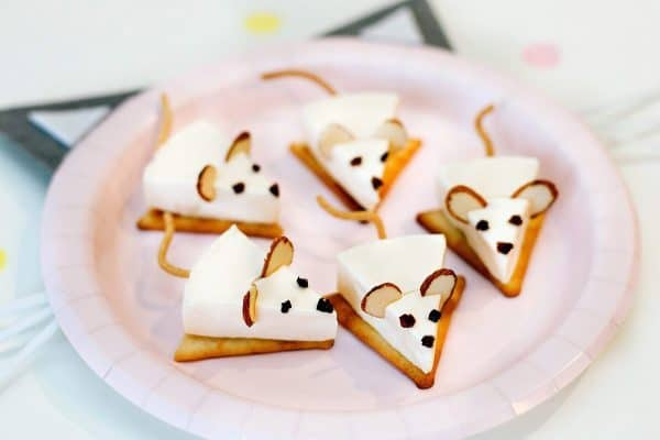 Cheese Mice   Cat Birthday Party Recipe and Food