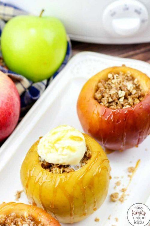 Crock Pot Baked Apples | Fall Apple Recipe