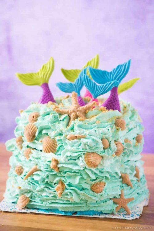 how to make a mermaid cake
