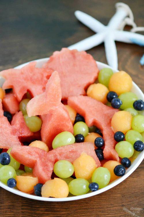 mermaid fruit salad party food